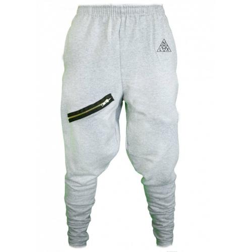 Pants Zipped Light Grey